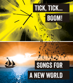 NKU_ Tick Tick Boom Songs for a New World logo