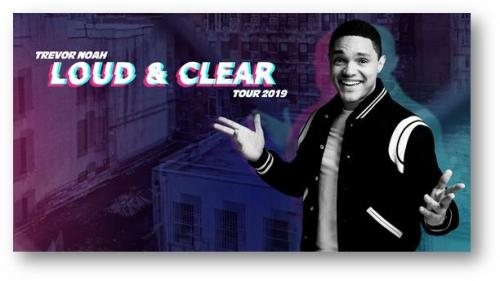 CAA_Trevor Noah Loud and Clear logo