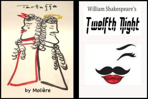 XACT_Tartuffe and Twelfth Night logos