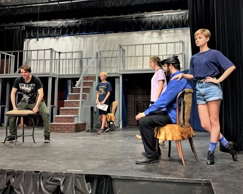 LSC_Bugsy Malone Jr rehearsal