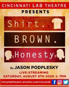 CLT_Shirt Brown Honesty logo